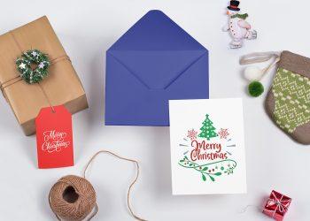 Christmas Greeting Card Free Mockup