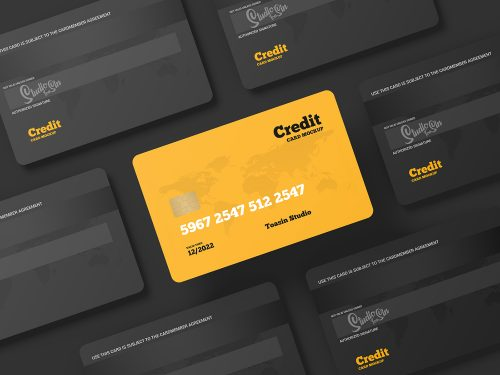 Credit Cards Gift Cards Free Mockup 01