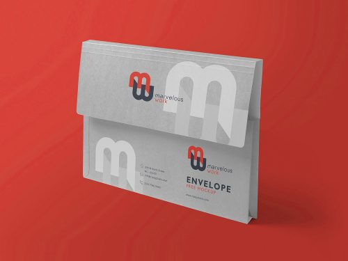 Flap Folder Free Mockup