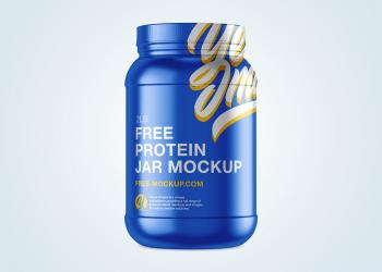 Free Protein Jar Mockup 2lb