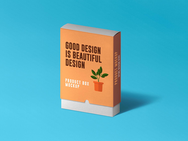 Free Slide Product Box Mockup