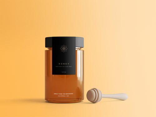 Honey Jar Free Package Mockup