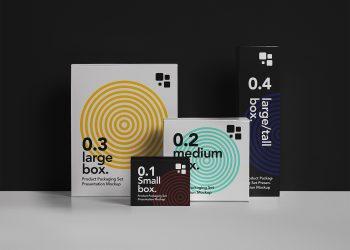 Packaging PSD Box Mockup Set