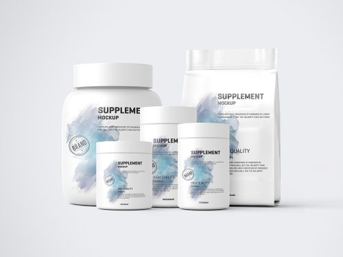 Protein Pack and Jar Free Mockups