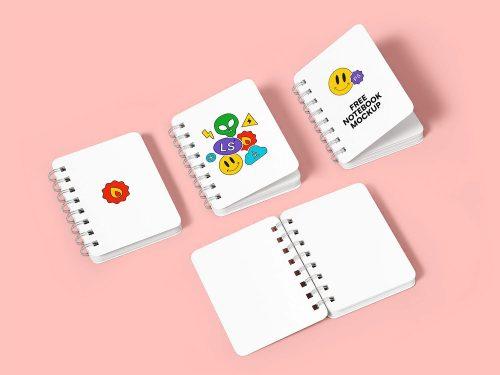 Spiral Notebook Free Mockup Set
