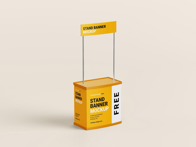Trade Stand PSD Free Mockup