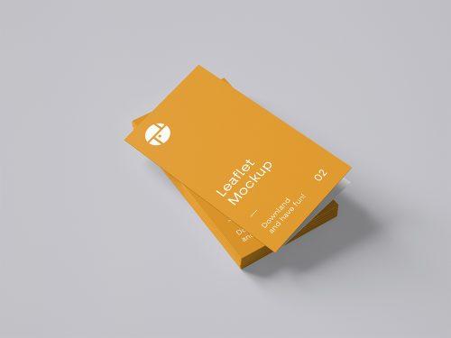 Two-Fold Brochure Free Mockup