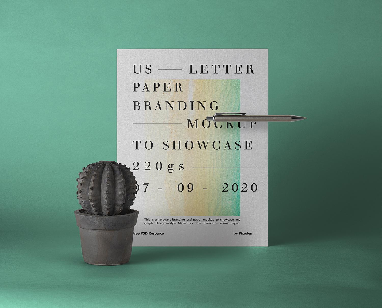 US Letter Brand Paper Free Mockup